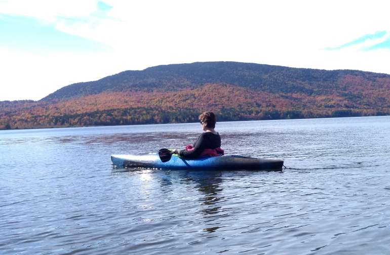 Kayaking on Beaver Mountain Lake
