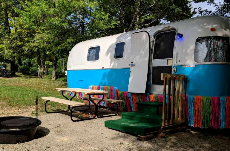 Our newly remodeled 1976 Airstream Argosy features a Jimmy Buffet tinspired Margaritaville motif and sleeps up to four.