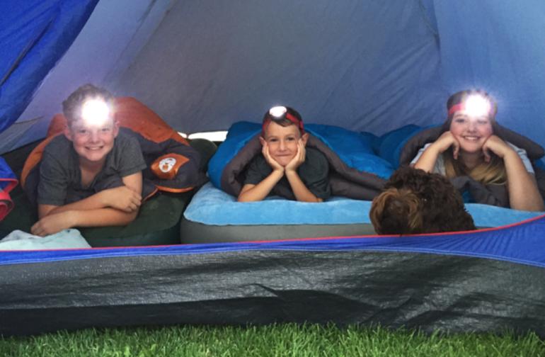 Backyard camp near downtown Austin