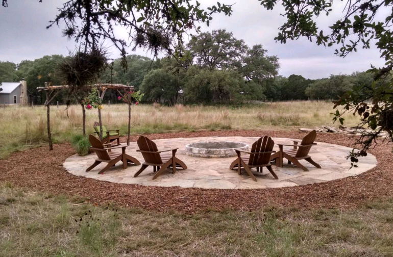 Communal firepit, make sure the burn ban is off before lighting any fires