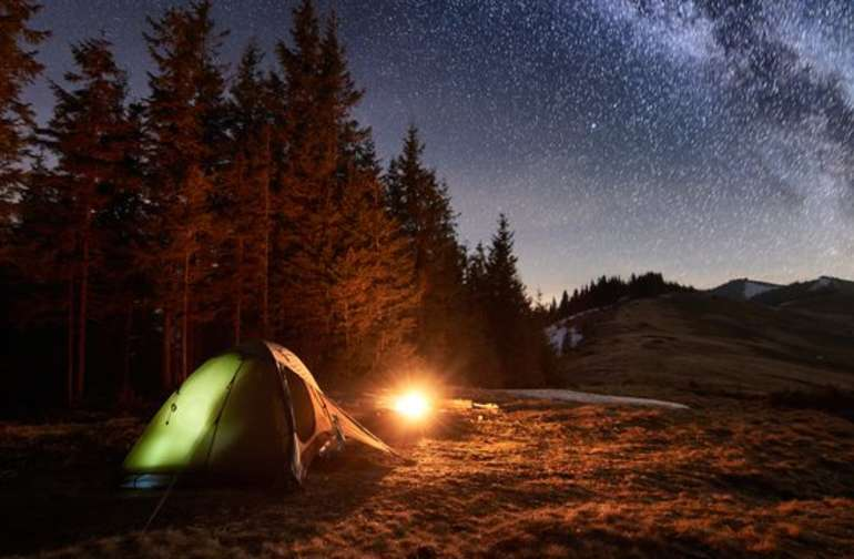Spend the night under the stars