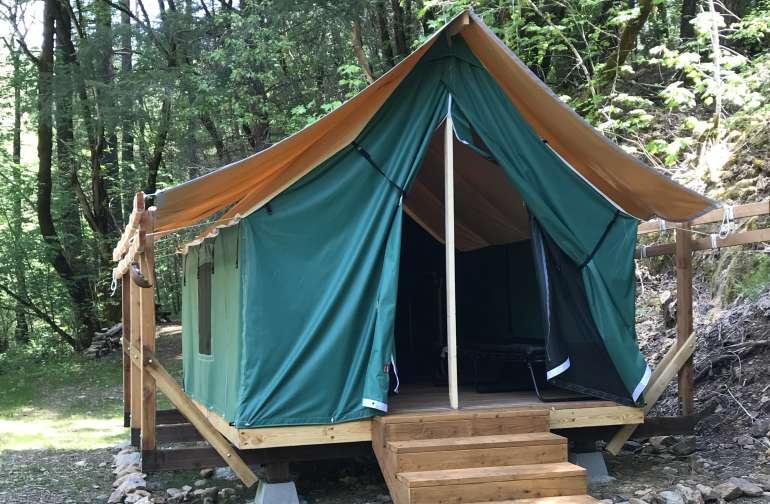 #10 Platform Safari Tent on Creek