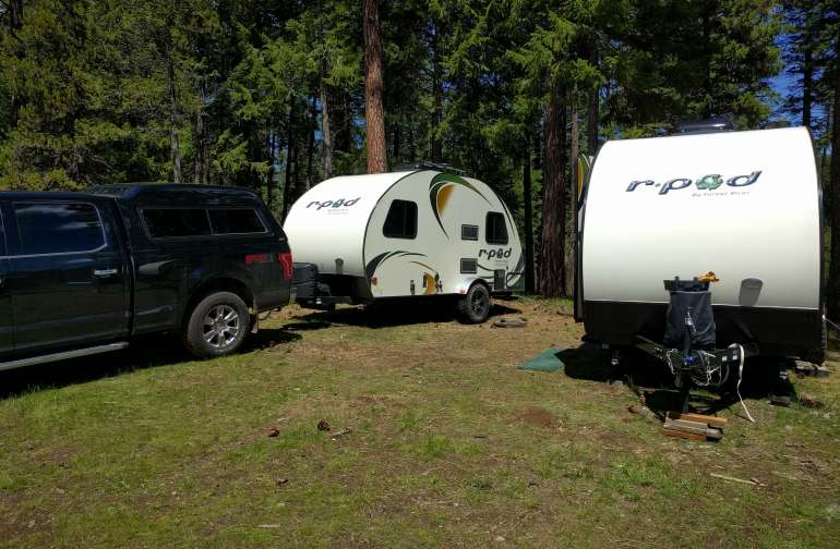 up to two RV's
