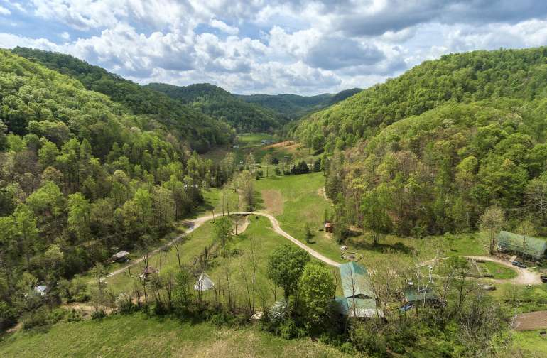 A bird's eye view of our holler.