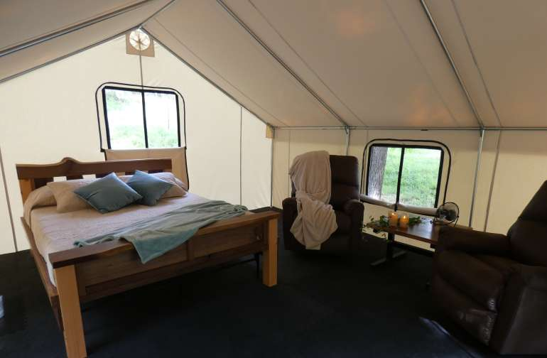 7 U Ranch 2 Furnished Tents Camping