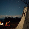 OCEANVIEW TIPI TENT COUPLE'S CORNER