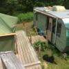 Tent & Trailerby stream