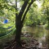 Boat & Trailer by stream