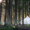 Luxury in a 13' LotusBelle tent