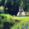 Tipi Glamp on the edge of a river!