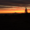 The Sun Rises Over Mt Hood