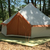 Yurt-style tent at Stone Creek Farm