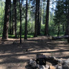 Campsite right outside Lassen NP