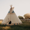 Large Tipi on a Bison/Yak Ranch
