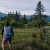 Campsite right outside Lassen NP