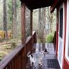 Little Red Cabin by Mt. Rainier