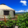 Yurt with Mountain Views