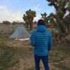 Joshua Tree Camp with Mountain View