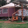 Eco-glamp in a big ol' Yurt!