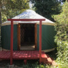 Secluded yurt on a creek