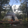 Magical La Cueva Prairie Fire Tipi
