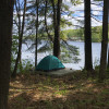 Lakefront Forest Camp on Beach Pond