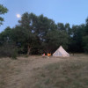 Safari-style glamping meadow