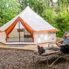 Yurt-style tent at Stone Creek Farm
