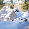 Wood-Heated Tipi for Stars & Aurora