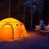 Tent camping primitive
