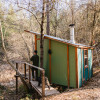 CedarSong Sanctuary Cabin on a pond