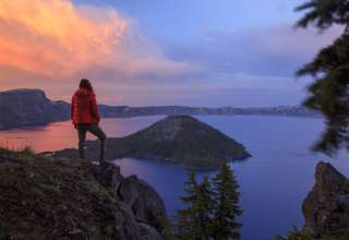 Sunsets at Crater Lake never disappoint!