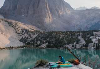 Starting from Big Pine Campground, we hiked into the mountains to finish here at 2nd lake below Temple Crag. Remains one of the coolest spots I've been lucky enough to set-up camp at. The views were so great, that we just had to soak it up outside the tent!