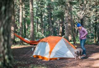 Great soft campsites, with pull-ins, pull-throughs, and tent camping.