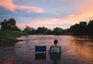 sunset river
