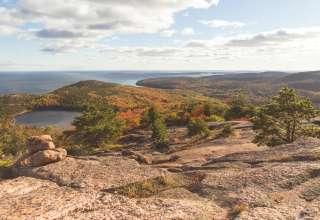Hiking through Acadia, less than a 30-minute drive away!