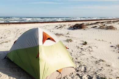 Camp anywhere on the beach, no designated sites!