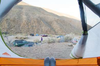 Slightly off the beaten path, this FREE campground was quiet and at least 15 degrees cooler than Furnace Creek.