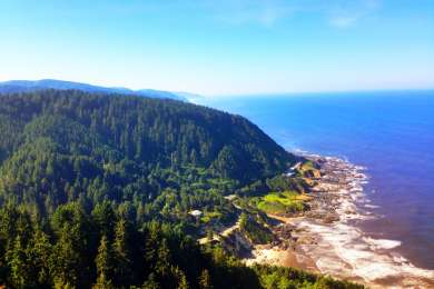 The view from the top of Cape Perpetua