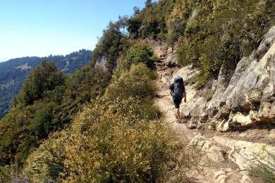 Saratoga Gap trail on the way