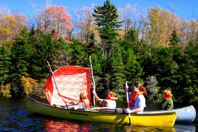 """Sailing"" in Adam's Reservoir in Woodford State Park"