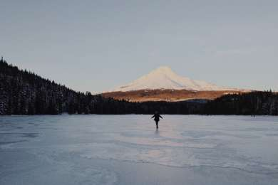 Frozen Trillium lake on New Years day, 2015