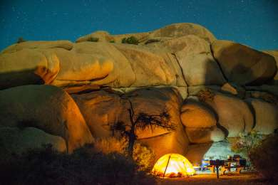 Jumbo Rocks is super ideal, great location very close to the Skull Rock and launching points for good day hikes. It's tucked between gigantic rocks giving you windproof and sunproof shelter during the day.