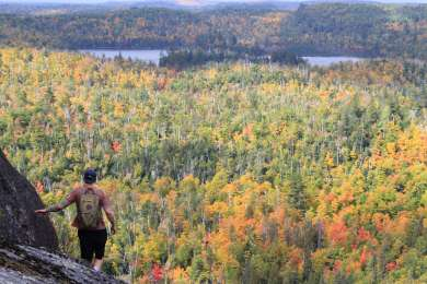 Tettegouche State Park boasts some of the most incredible bluffs in Minnesota.  Hike along the Superior Hiking Trail to Bean & Bear Lakes or Mount Trudee for some of the areas best scenes.