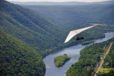 Check out Hyner View for some great views and Hang Gliding!