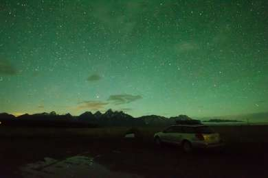 The stars in the Tetons are outstanding!