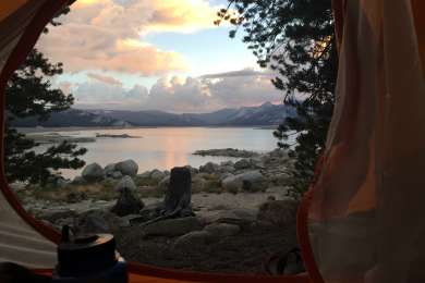 Tent with a view: site 10 doesn't offer much privacy, but it's hard to beat waking up to this scenery.