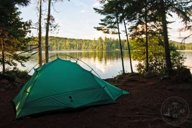 Camping on Forked Lake
