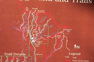 Trail map in the campground.
