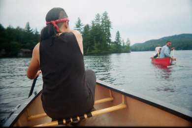 Canoeing through the Fulton Chain of Lakes